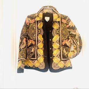 Alberto Makali Silk Reverse Black Peacock Jacket